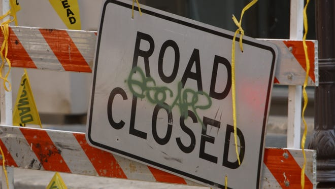 There will be road construction on Prater Way until Friday evening.