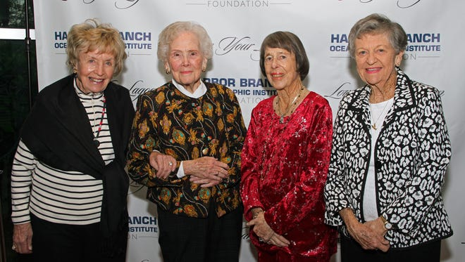 Winks Kremer, left, Alma Lee Loy, Marilyn Link and Eleanor Sexton at a Love Your Lagoon event.