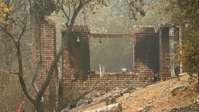 Carr Fire - Destruction along Swasey Rd between Placer Road and HWY 299. Also at the old Shasta.  (Photos by Hung T. Vu)