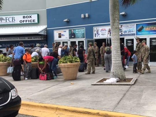 People were still entering Germain Arena as of 3 p.m. Saturday ahead of Hurricane Irma.