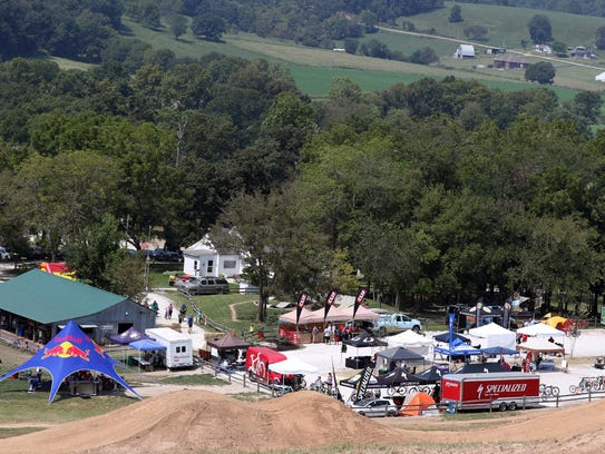 The Singletrack Mind event seen from high above the
