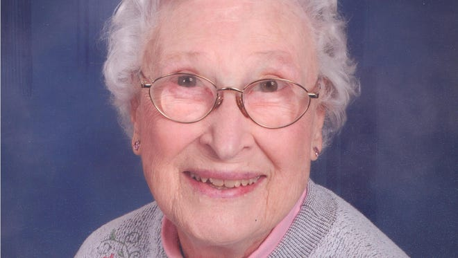 Esther L. Moutoux, 93, of Evansville, passed away Tuesday, May 27, 2014, at Deaconess Hospital.  She was born August 7, 1920, in Evansville, to the late George G. and Lydia A. (Miller) White.