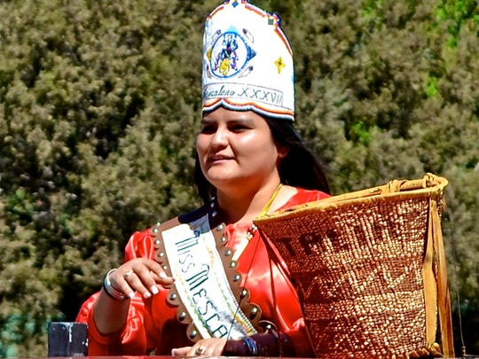 Miss Mescalero also participated in the parade.