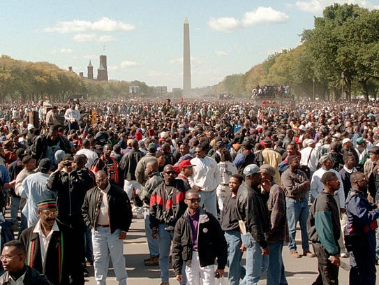 Overall view of the National Mall during the Million