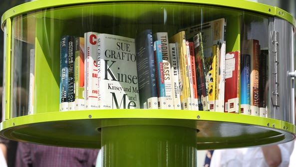 Books provided by the Indianapolis Public Library are