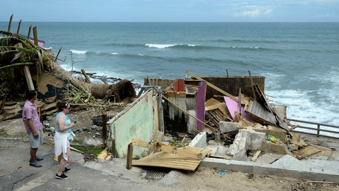 Aftermath of Hurricane Maria in San Juan, Puerto Rico, on Sept. 25, 2017.