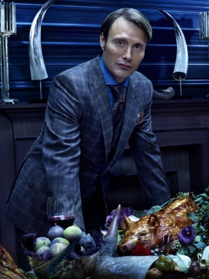 "Mads Mikkelsen plays Dr. Hannibal Lecter in the NBC series ""Hannibal,"" which airs Fridays at 10 p.m."