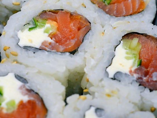 The smoked salmon roll, aka the Philadelphia roll,