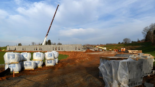 Knox County Schools middle schools like, the new Hardin Valley Middle School under construction, are facing rezoning Tuesday, Feb. 21, 2017.