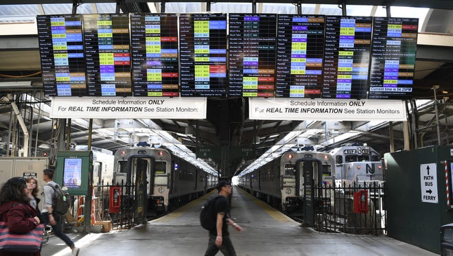 NJTransit held a customer forum to alert riders of changes in train schedules starting June at the Hoboken Terminal on Monday, May 14, 2018.