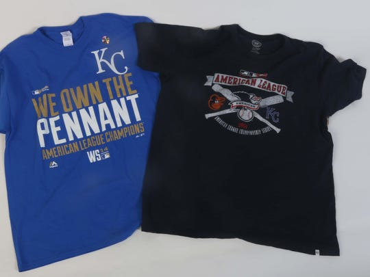 Some of the Royals swag we will be giving away.