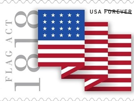 The Flag Act of 1818 Forever Stamp will be officially