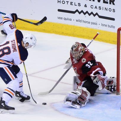 Feb 17, 2018: Edmonton Oilers center Ryan Strome (18)