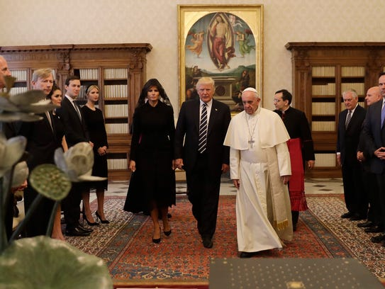 Pope Francis meets with President Donald Trump and