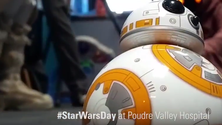 #StarWarsDay at Poudre Valley Hospital