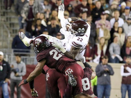Mississippi State Bulldogs running back Aeris Williams