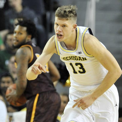 Michigan forward Moritz Wagner, seen here in a file