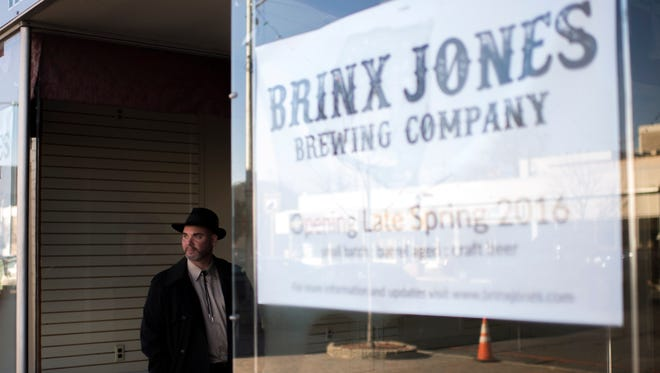 Brewer Steve Wozniak stands by his empty storefront on Landis Ave Wednesday, Jan. 13 in Vineland. Wozniak plans to open Brinx Jones Brewing Company Spring 2016.
