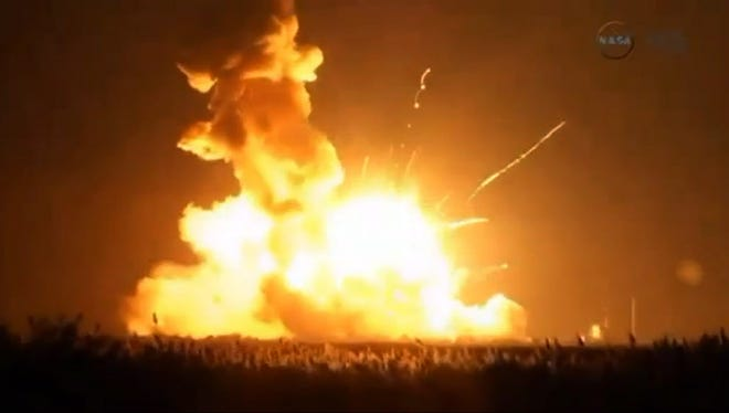 The unmanned Antares rocket malfunctioned and was destroyed seconds after liftoff.