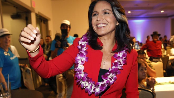 Tulsi Gabbard, 38, Hawaiian congresswoman announced she was running on Jan. 11, 2019. Last month, she dropped out of the 2020 election and endorsed former Vice President Joe Biden.