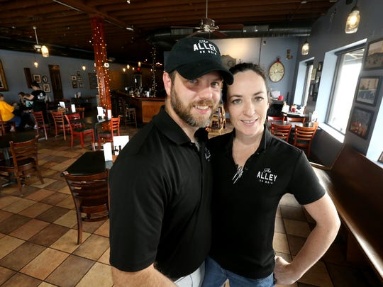 Shawn and Christy Hackinson, the owners of The Alley on Main, pride themselves on offering made-from-scratch fare.