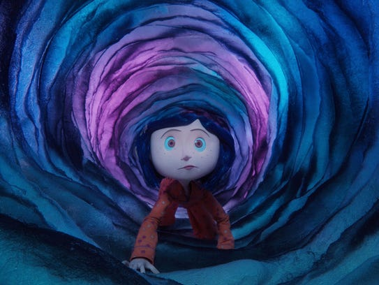 "The stop-motion animated ""Coraline,"" based on the Neil"