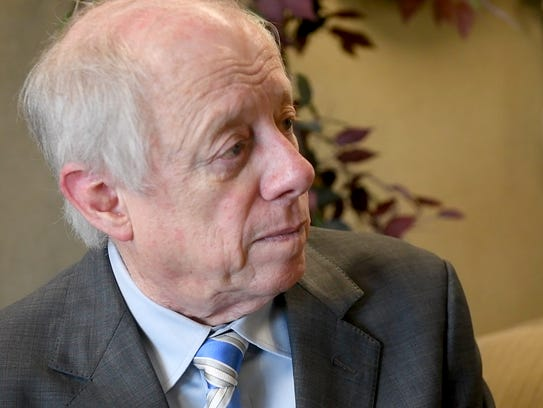 Former Tennessee Gov. Phil Bredesen tours Jackson State Community College, Thursday, Feb. 15.