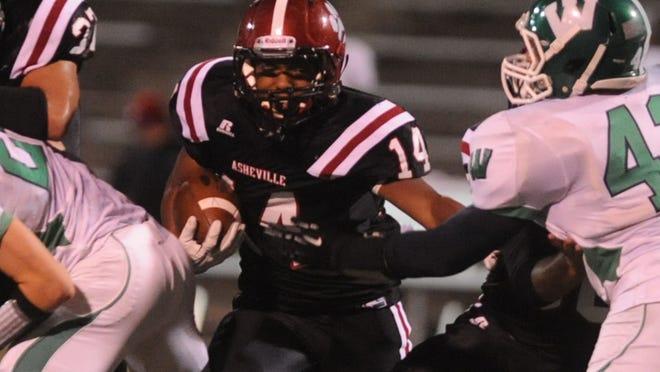 Asheville High's Reggie Battle.