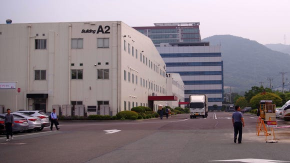LG builds TwinWash at its home appliance factory in Changwon, South Korea