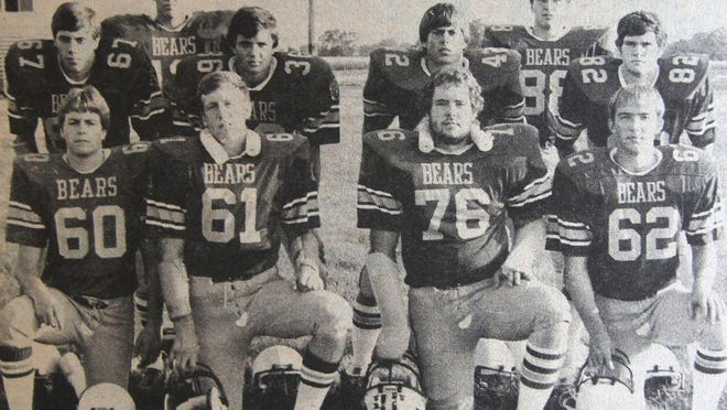 These Yorkwood players were featured in the preseason football preview put out by the Monmouth Daily Review Atlas. Front (from left): Jamie Munson, Mike Deisher, Jim Slater and John Winebright. Middle (from left):  John Keener, Matt Gillen, Mike Ricketts and Darryl Ricketts. Back (from left): Jim Rowley and Chad Allaman.