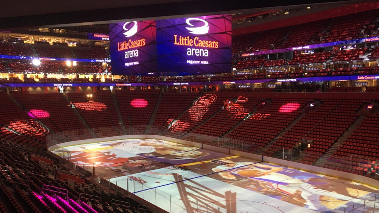 Sneak peek inside Little Caesars Arena