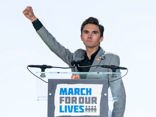 David Hogg, a survivor of the school shooting at Marjory