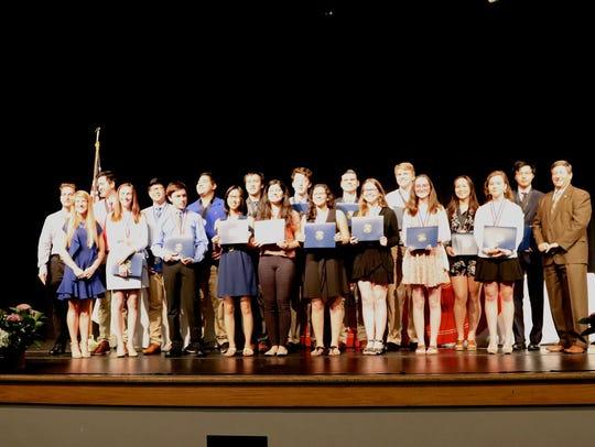 2018 Senior Academic Award winners from Pensacola High