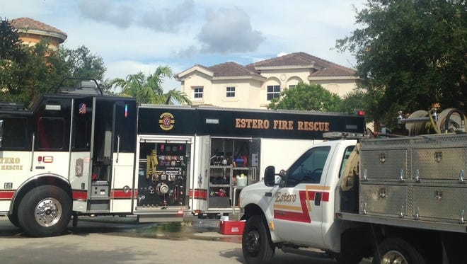 Estero Fire Rescue respond to three brush fires Tuesday afternoon.