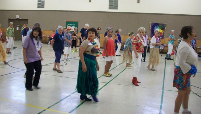 The Zia Zingers Line Dancers filled the First United Methodist Church gymnasium with line dancers from southwestern New Mexico, Arizona and West Texas. Over 100 dancers participated in the Island Dance Theme.