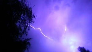 Lightning will be possible in the Cascade Range on Thursday afternoon and evening, and possibly Friday.