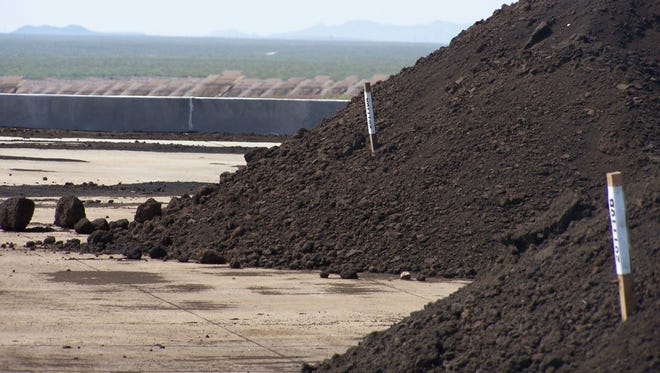 """""""Black gold"""" or Class A+ composted biosolids is available free by the truckload at the Las Cruces Utilities West Mesa Facility."""