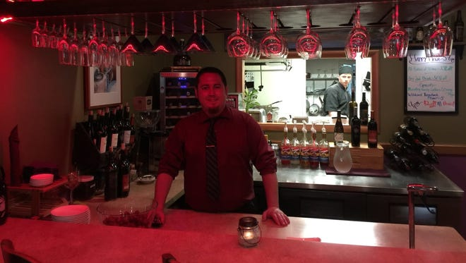 """Owner Marshall Glashan at the """"new"""" Cafe Paradisio, on Yuba Street in downtown Redding."""
