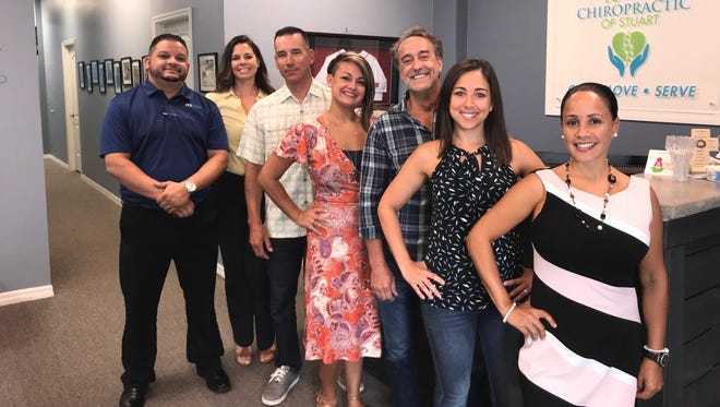 Dancers competing in the 2018 Dancing with the Martin Stars competition, from left, Mike Gonzalez, Jaime Schwartz, George Gozdz, Cheree Ramirez, Mike Renfro, Jennifer Jones and Ann Rodriguez.