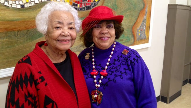 Jessie Stokes, left, immediate past president of Friends of the Shawnee Library, and Neysa Smith, president, at the branch, 3912 W. Broadway.