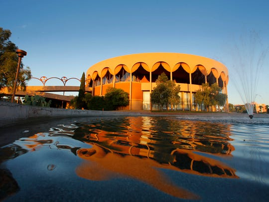 ASU Gammage on April 16, 2014, in Tempe. Grady Gammage Memorial Auditorium is considered to be the last public commission of architect Frank Lloyd Wright. Groundbreaking took place and construction on the building began on May 23, 1962. It took 25 months to complete.