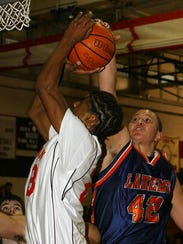 Mt. Lakes' #42 Donny Allieri blocks a shot by Boonton's