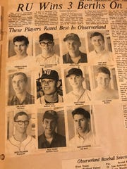 This clipping showed the Observer's 1968 All-Area baseball team, which included future Detroit Tigers player Bill Fahey. Also shown are Garden City West standouts Jim Furey and Bob Chidester.
