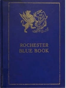 "The Rochester Blue Book, a self-described directory of ""people of prominence."""