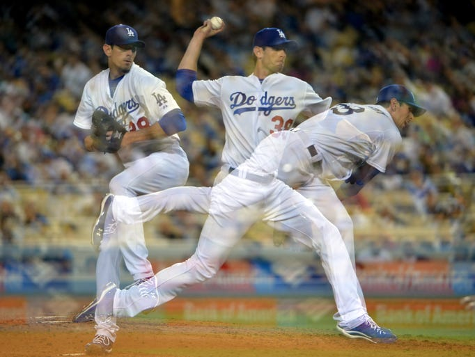 Apr 13, 2015: Los Angeles Dodgers pitcher Brandon McCarthy