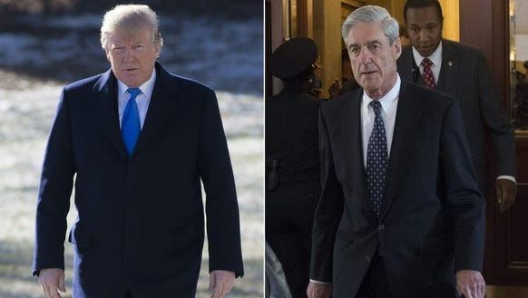 President Trump (left) and special counsel Robert Mueller