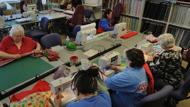 Volunteers in the community at Quilty Pleasures in Simi Valley sew pillowcases for Ryan's Case for Smiles. The non-profit donates them to hospitals that specialize in pediatric illnesses. The whimsical pillowcases are intended to give the children an emotional boost.