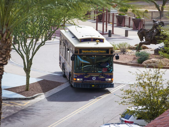 Downtown Scottsdale's free trolley service is surging