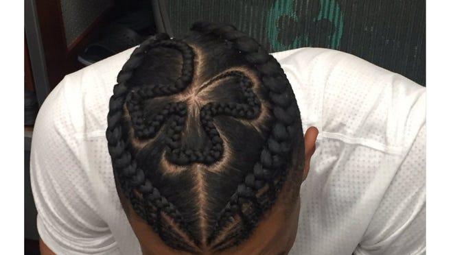 Celtics swingman Gerald Green had a shamrock braided into his hair for opening night.