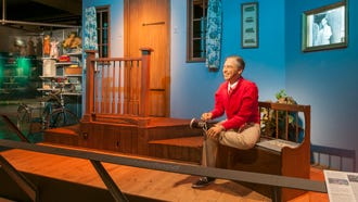 "In Pittsburgh, the Senator John Heinz History Center hosts a permanent display called ""Mister Rogers' Neighborhood"" that includes the entryway and living room set that Rogers walked through at the start of each episode"